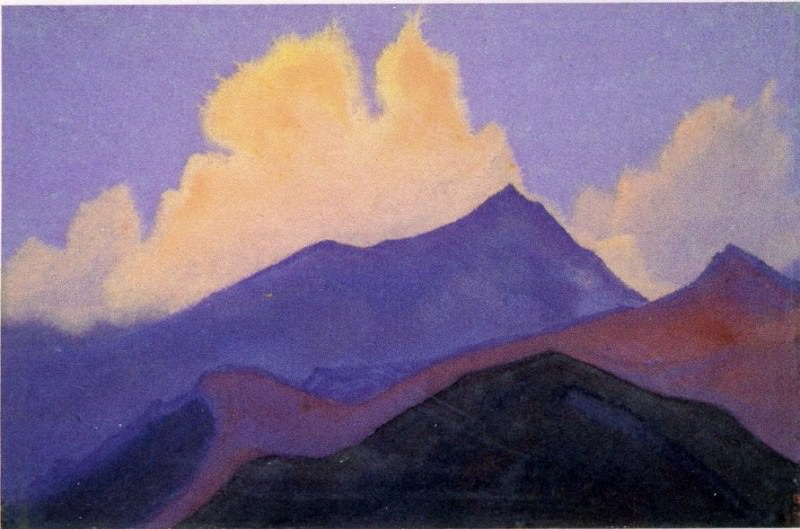 Hills # 34 (Himalayas. Clouds). Roerich N.K. (Part 5)