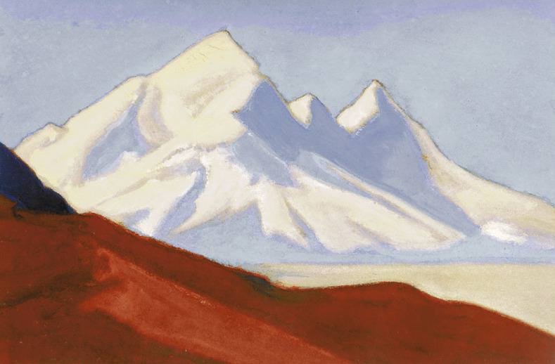 Himalayas # 5 White and pink heights. Roerich N.K. (Part 5)
