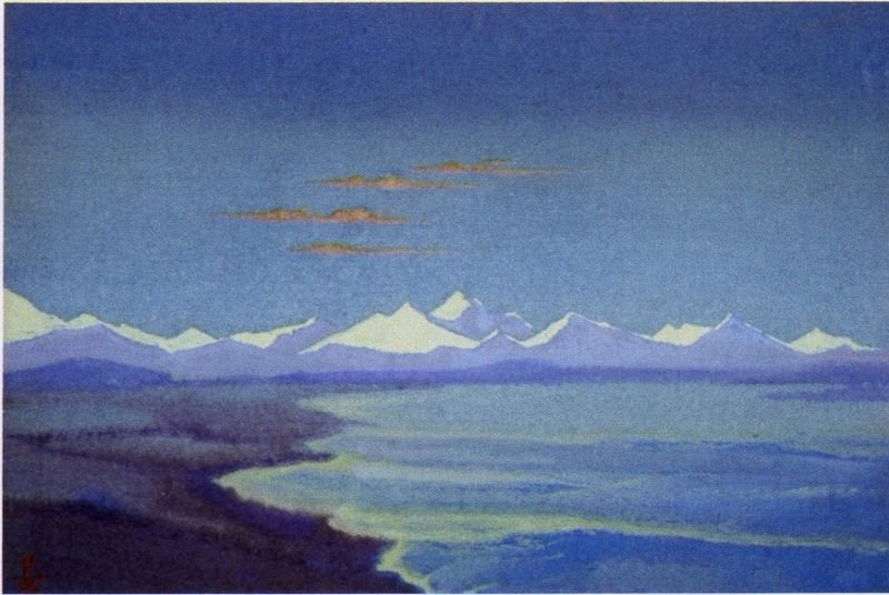 The Himalayas # 146 Tibet. Lake. Roerich N.K. (Part 5)