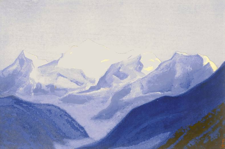 The Himalayas # 74 The Golden Peaks. Roerich N.K. (Part 5)