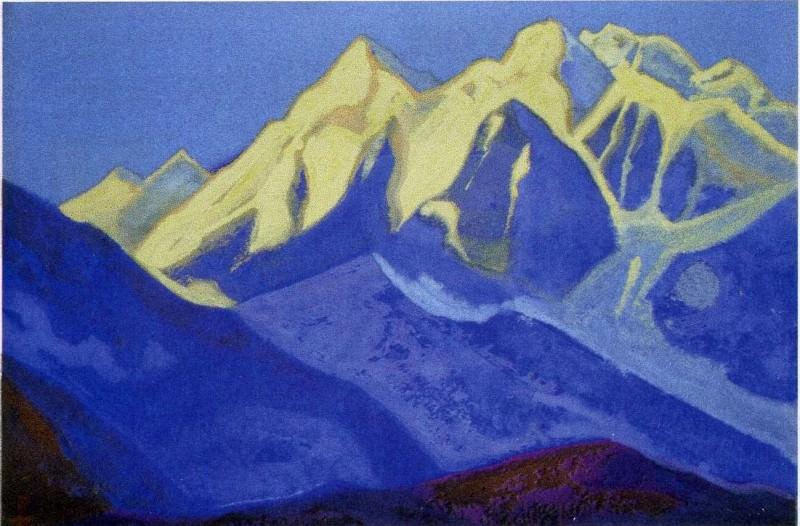 Himalayas # 73 Snowy peaks. Roerich N.K. (Part 5)