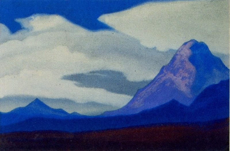 The Himalayas # 18 The Lonely Peak. Roerich N.K. (Part 5)