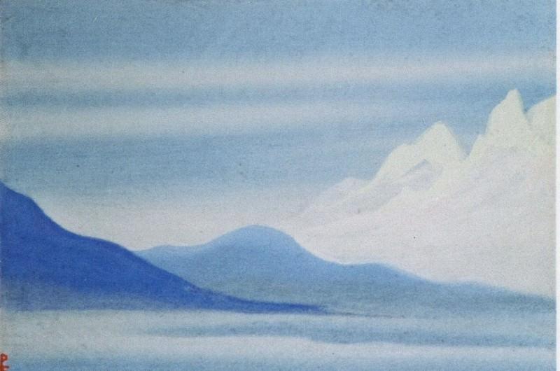 Morning # 83 (Mountain a silvery light). Roerich N.K. (Part 5)
