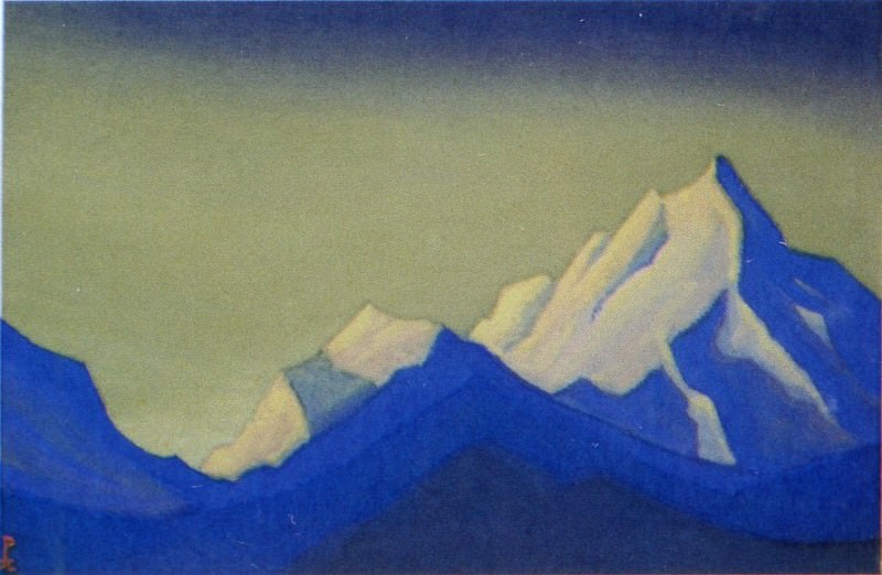 The Himalayas # 114 The blue shadows. Roerich N.K. (Part 5)