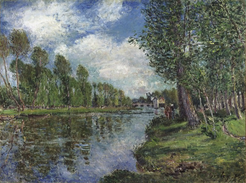 Alfred Sisley, French, 1839-1899 -- Banks of the Loing River. Philadelphia Museum of Art