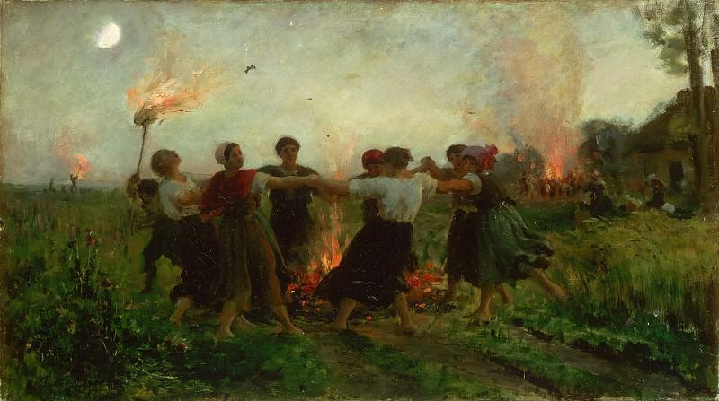 Бретон, Жюль (1827-1906) - Праздник святого Иоанна. Музей искусств Филадельфии