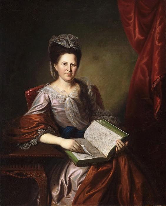 Charles Willson Peale, American, 1741-1827 -- Portrait of Mrs. John B. Bayard. Philadelphia Museum of Art