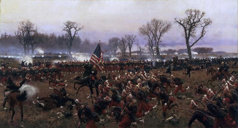 Carl Röchling, German, 1855-1920 -- The Battle of Fredericksburg, December 13, 1862. Philadelphia Museum of Art