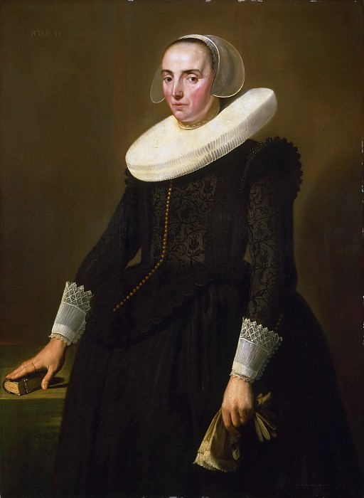 Pieter Dubordieu, Dutch (active Leiden and Amsterdam), born 1609/10, still active 1678 -- Portrait of Jeanne de Planque. Philadelphia Museum of Art