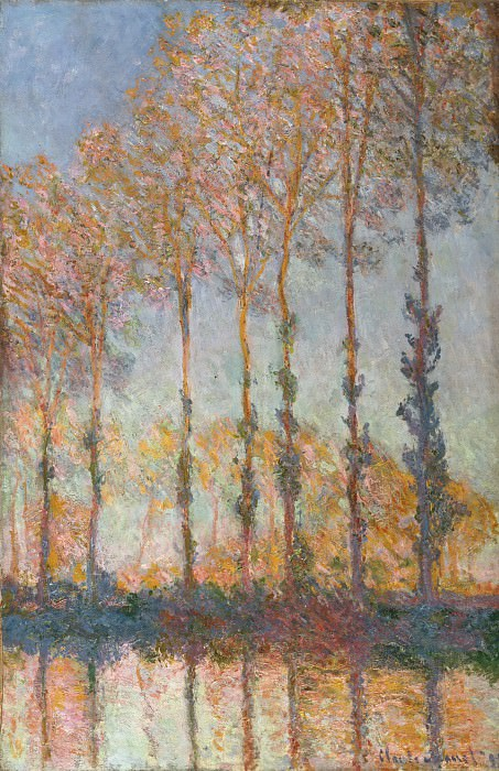 Claude Monet, French, 1840-1926 -- Poplars on the Bank of the Epte River. Philadelphia Museum of Art