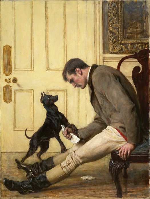 Briton Riviere, English, 1840-1920 -- Jilted. Philadelphia Museum of Art
