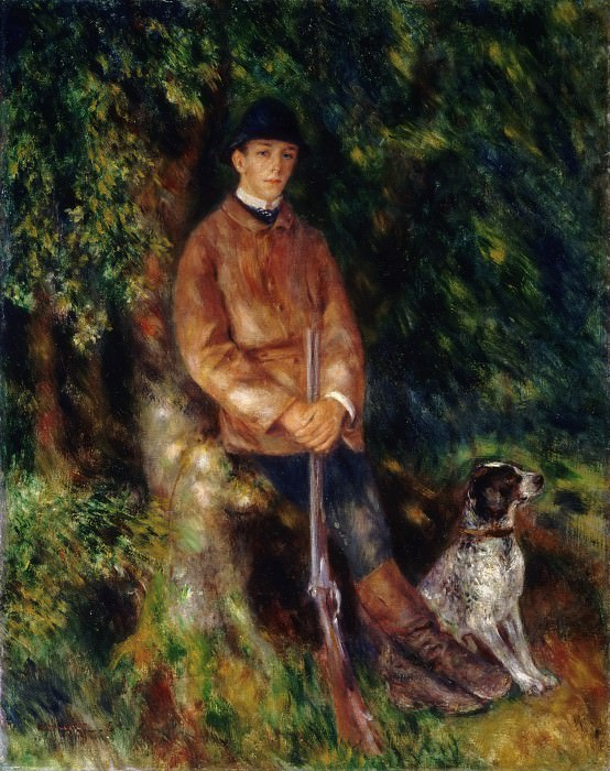 Pierre-Auguste Renoir, French, 1841-1919 -- Portrait of Alfred Bérard with His Dog. Philadelphia Museum of Art