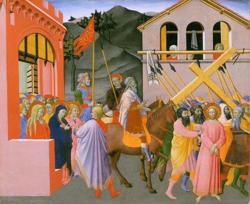 Master of the Osservanza, Italian (Siena), active c. 1430-c. 1460 -- Christ Carrying the Cross. Philadelphia Museum of Art