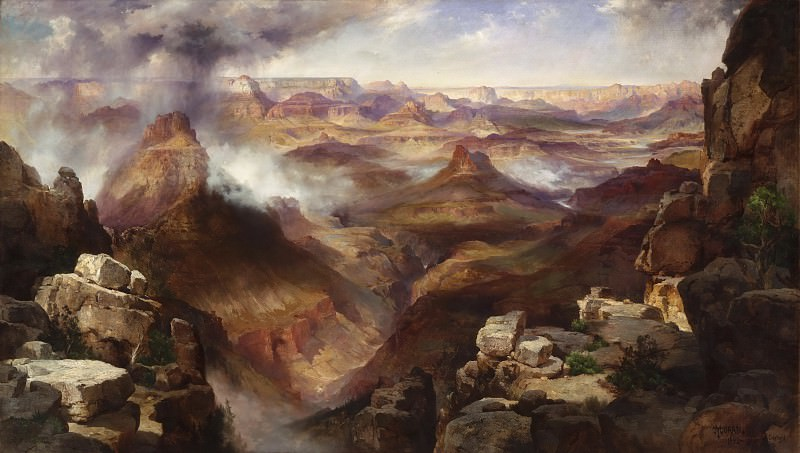 Thomas Moran, American, 1837-1926 -- Grand Canyon of the Colorado River. Philadelphia Museum of Art