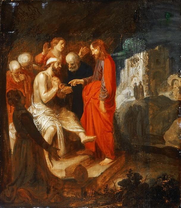 Пейнас, Ян Симонс (1583 Харлем - после1631 Амстердам) -- Воскрешение Лазаря. Музей искусств Филадельфии