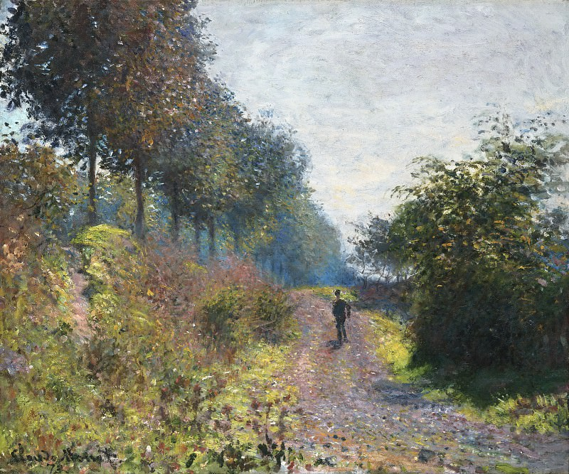 Claude Monet, French, 1840-1926 -- The Sheltered Path. Philadelphia Museum of Art