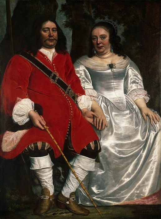 Attributed to Lodewyck van der Helst, Dutch (active Amsterdam), 1642-c. 1684 -- Portrait of a Gentleman and a Lady Seated Outdoors. Philadelphia Museum of Art