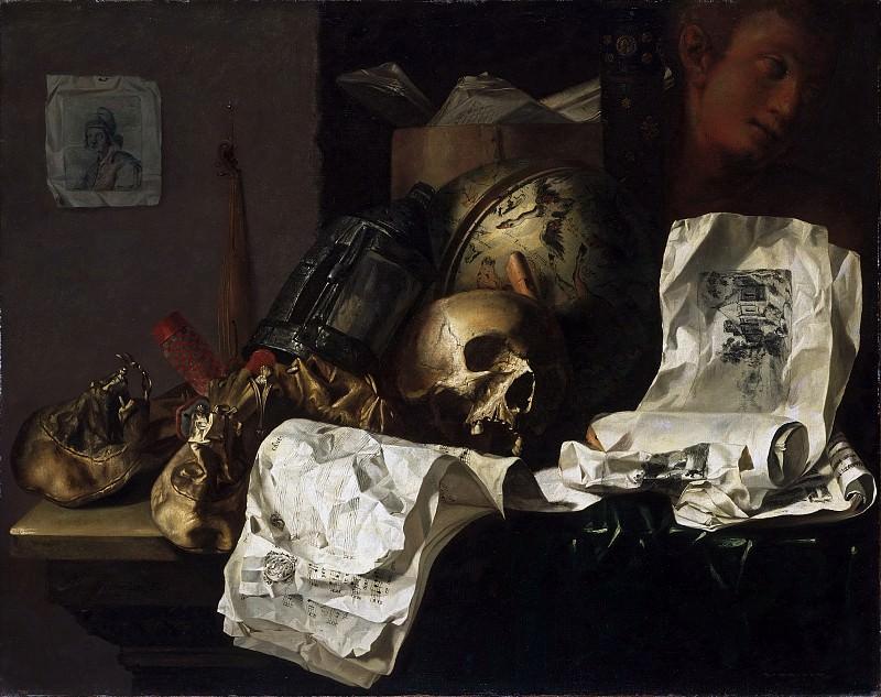 N. L. Peschier, Netherlandish, active 1659-1661 -- Vanitas. Philadelphia Museum of Art
