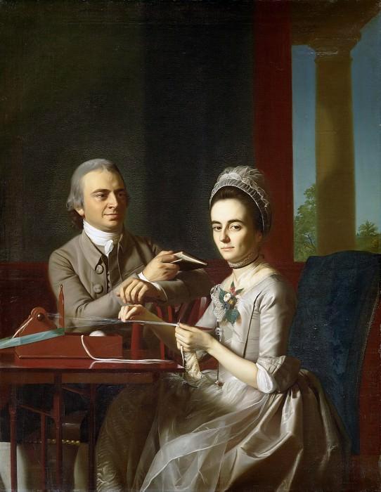 John Singleton Copley, American, 1738-1815 -- Portrait of Mr. and Mrs. Thomas Mifflin (Sarah Morris). Philadelphia Museum of Art