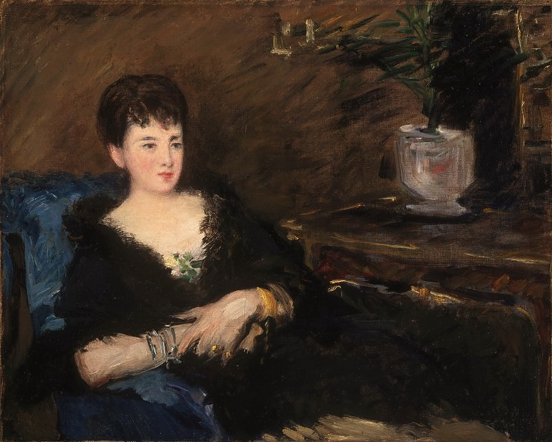 Édouard Manet, French, 1832-1883 -- Portrait of Isabelle Lemonnier. Philadelphia Museum of Art