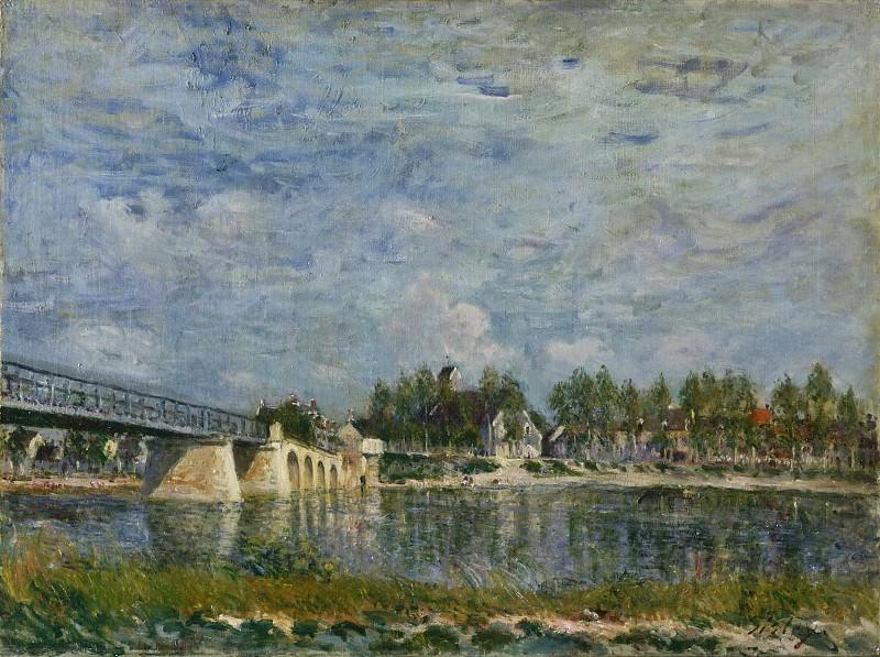 Alfred Sisley, French, 1839-1899 -- The Bridge at Saint-Mammes. Philadelphia Museum of Art
