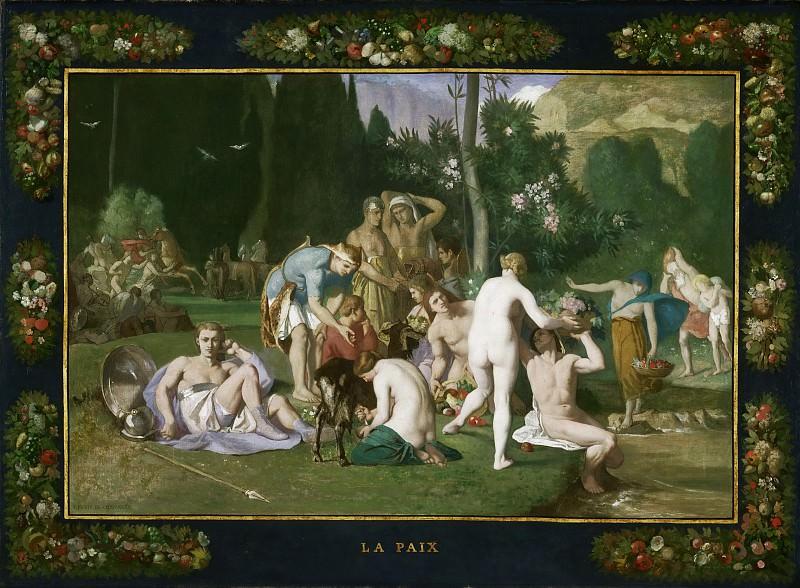 Pierre Puvis de Chavannes, French, 1824-1898 -- Peace. Philadelphia Museum of Art