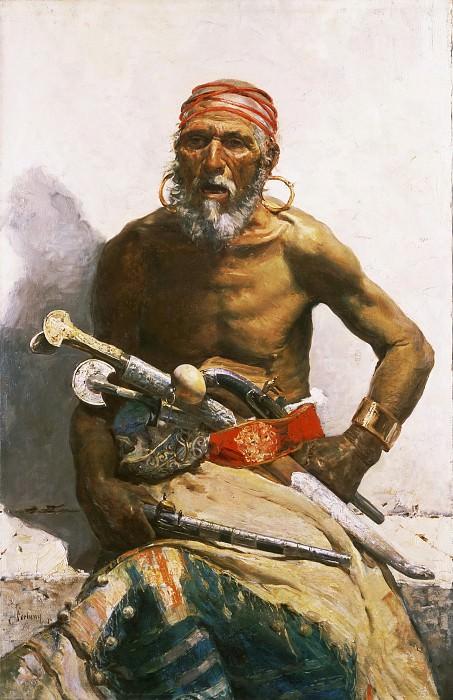 Mariano Fortuny y Carbó, Spanish, 1838-1874 -- Arab Chief. Philadelphia Museum of Art