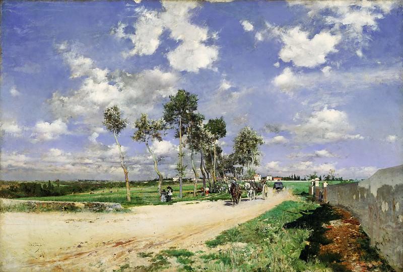 Giovanni Boldini, Italian, 1842-1931 -- Highway of Combs-la-Ville. Philadelphia Museum of Art