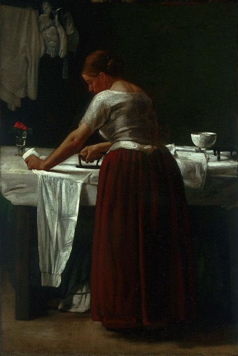 François Bonvin, French, 1817-1887 -- Woman Ironing. Philadelphia Museum of Art