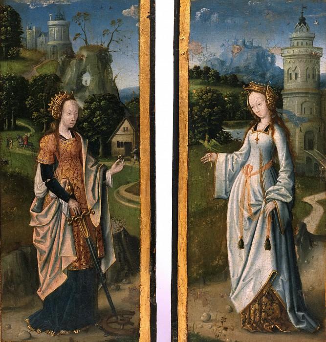 Netherlandish (active Antwerp?) -- Saints Catherine of Alexandria and Barbara. Philadelphia Museum of Art