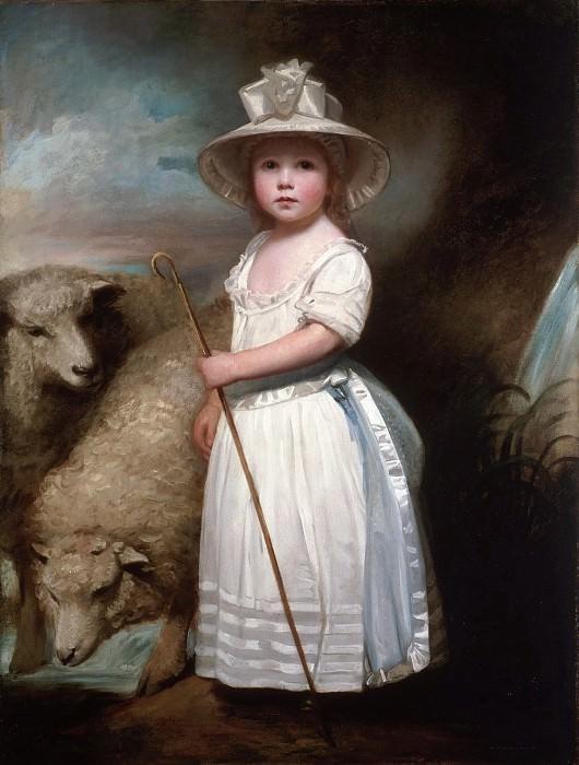 George Romney, English, 1734-1802 -- Shepherd Girl. Philadelphia Museum of Art