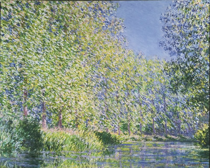 Claude Monet, French, 1840-1926 -- Bend in the Epte River near Giverny. Philadelphia Museum of Art