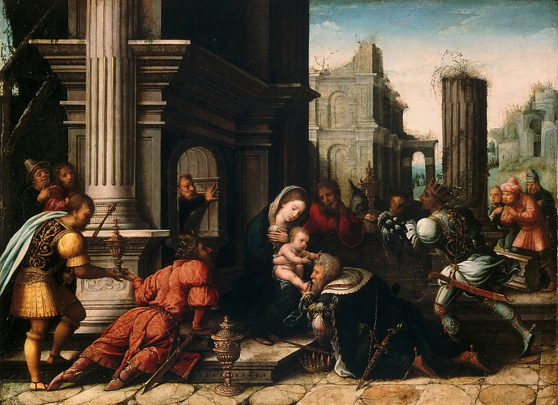 Bernard van Orley, Netherlandish (active Brussels), first documented 1515, died 1542 -- The Adoration of the Magi. Philadelphia Museum of Art
