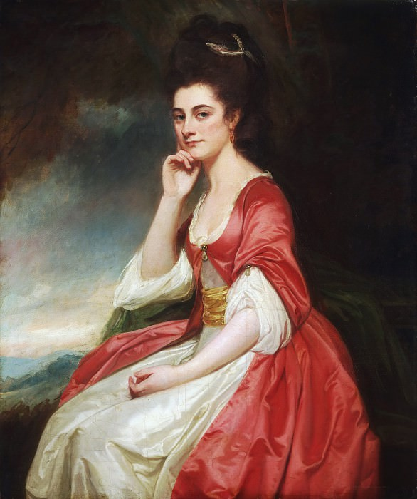 George Romney, English, 1734-1802 -- Portrait of Lady Grantham. Philadelphia Museum of Art