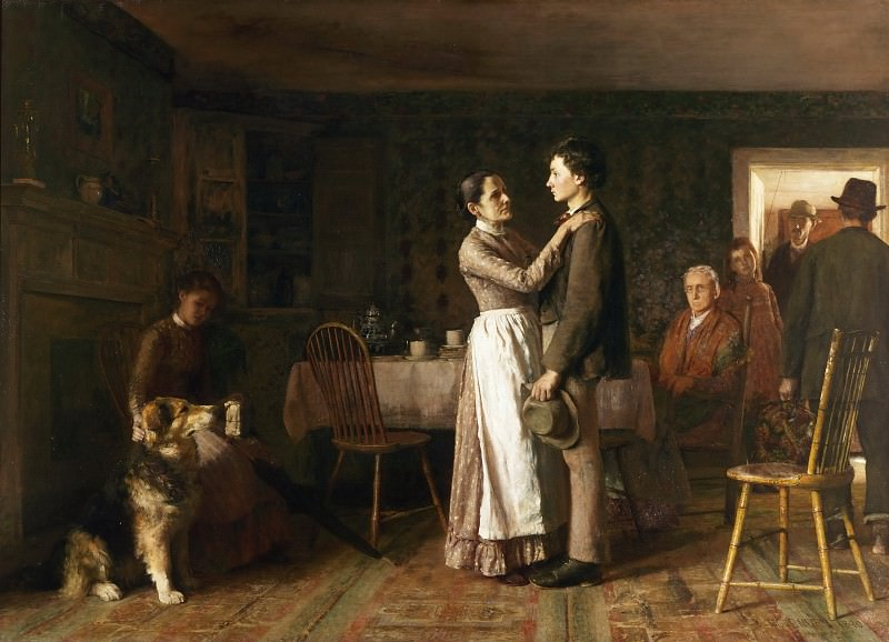 Thomas Hovenden, American (born Ireland), 1840-1895 -- Breaking Home Ties. Philadelphia Museum of Art