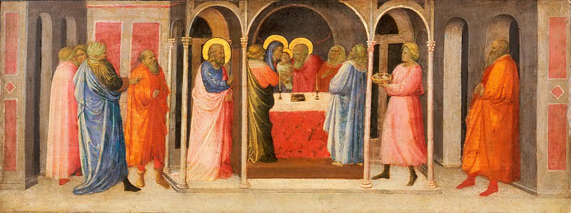 Giovanni Toscani (Giovanni di Francesco Toscani), Italian (active Florence), c. 1370-80-1430 -- Presentation of Christ in the Temple. Philadelphia Museum of Art