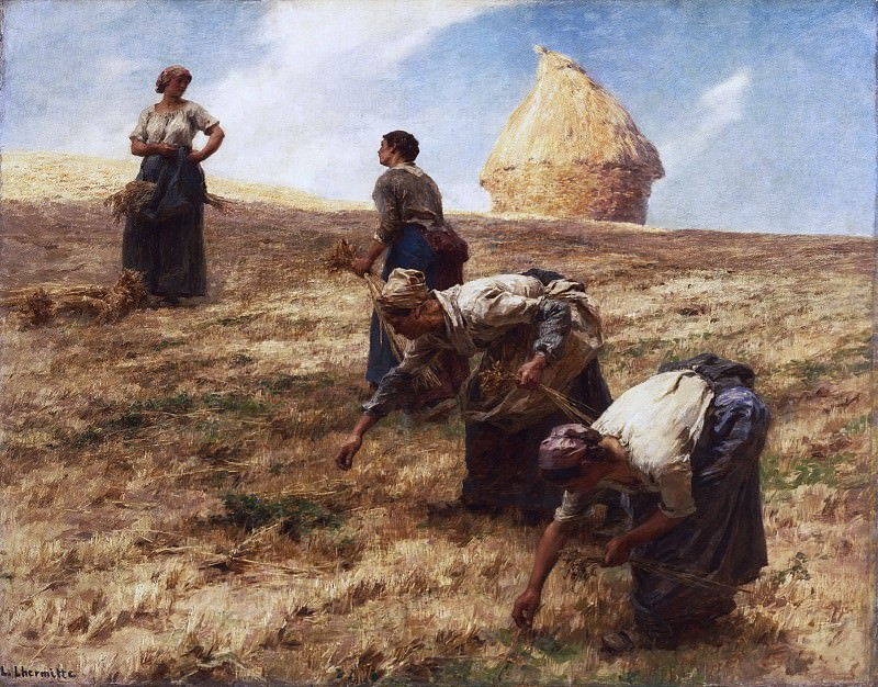 Léon-Augustin Lhermitte, French, 1844-1925 -- The Gleaners. Philadelphia Museum of Art