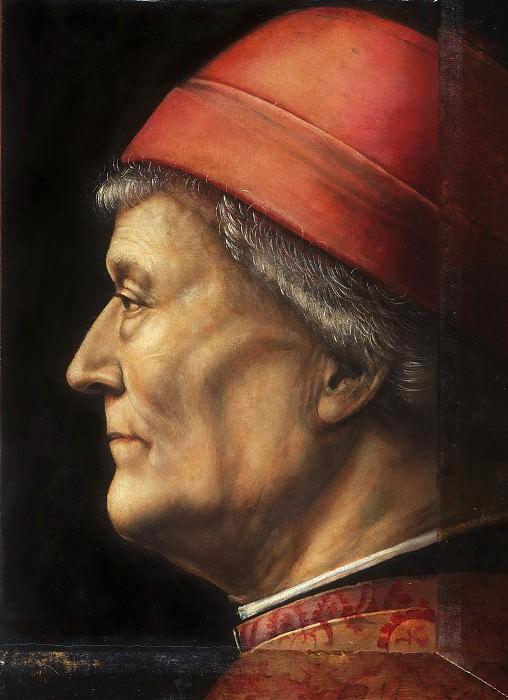 Vincenzo Foppa, Italian (active Milan), born 1427- 30, died 1515/16 -- Portrait of an Elderly Gentleman. Philadelphia Museum of Art