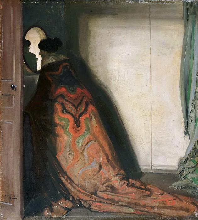 Морер, Альфред Генри (1868-1932) -- Павлин (Женский портрет). Музей искусств Филадельфии