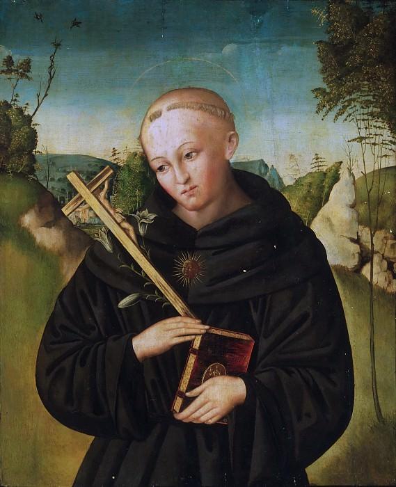 Pseudo Marco Meloni, Italian (active Mantua), active c. 1510-1520 -- Saint Nicholas of Tolentino. Philadelphia Museum of Art