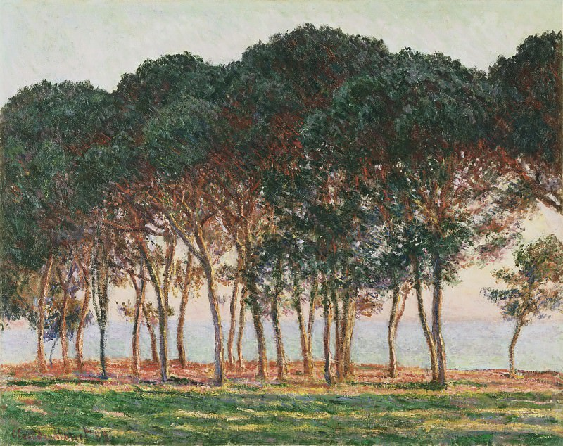 Claude Monet, French, 1840-1926 -- Under the Pines, Evening. Philadelphia Museum of Art