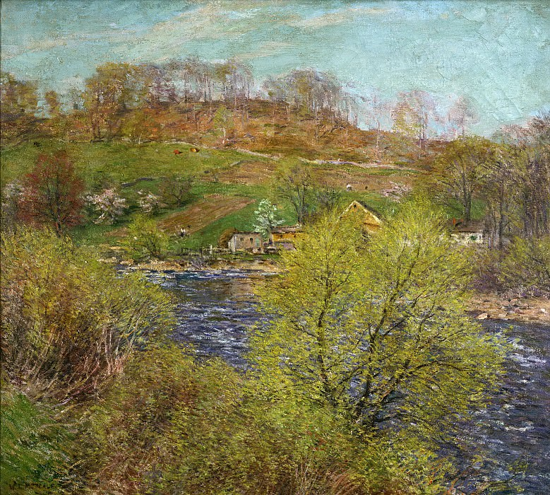 Willard Leroy Metcalf, American, 1858-1925 -- Blossoming Willows. Philadelphia Museum of Art