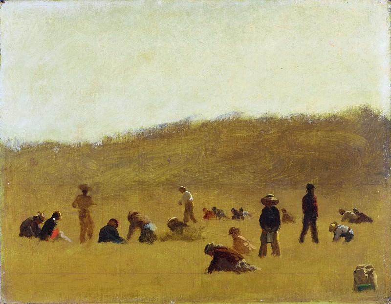 Eastman Johnson, American, 1824-1906 -- Cranberry Pickers. Philadelphia Museum of Art