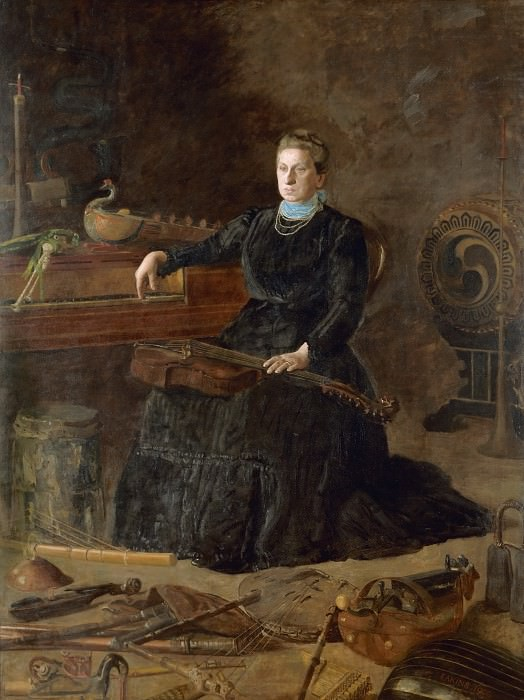 Thomas Eakins, American, 1844-1916 -- Antiquated Music (Portrait of Sarah Sagehorn Frishmuth). Philadelphia Museum of Art