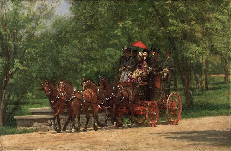 Thomas Eakins, American, 1844-1916 -- A May Morning in the Park (The Fairman Rogers Four-in-Hand). Philadelphia Museum of Art
