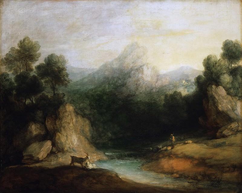 Гейнсборо, Томас (1727 Садбери - 1788 Лондон) - Пасторальный пейзаж. Музей искусств Филадельфии