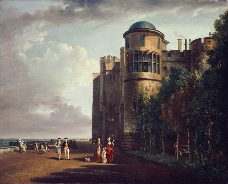 Paul Sandby, English, 1730-1809 -- The North Terrace at Windsor Castle, Looking East. Philadelphia Museum of Art