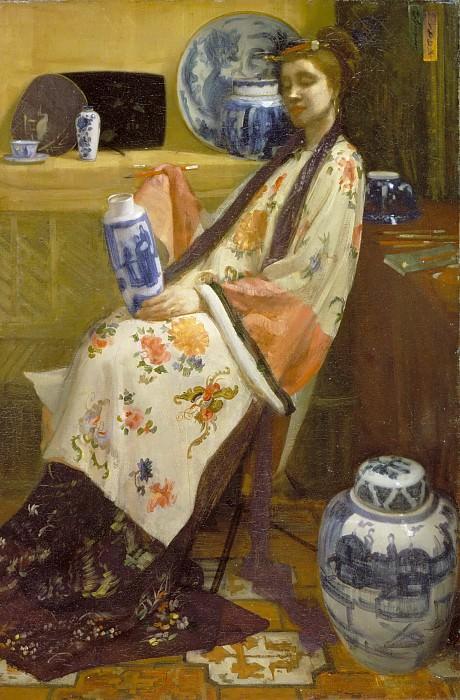 Уистлер, Джеймс Эббот Макнил (1834 Лоуэлл - 1903 Лондон) -- The Lady of the Lang Lijsen. Музей искусств Филадельфии