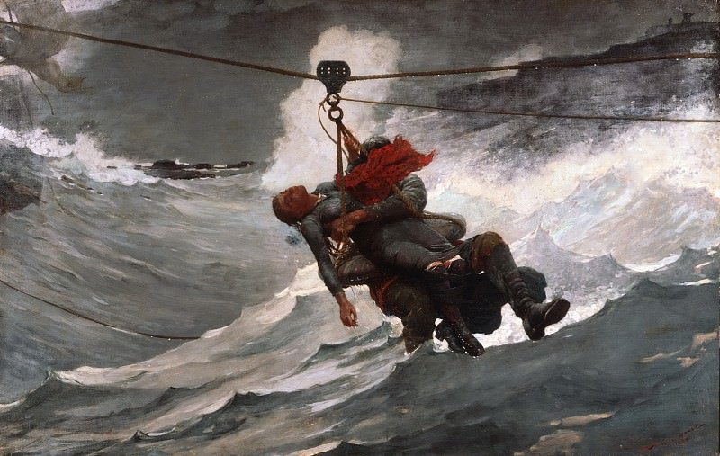 Winslow Homer, American, 1836-1910 -- The Life Line. Philadelphia Museum of Art
