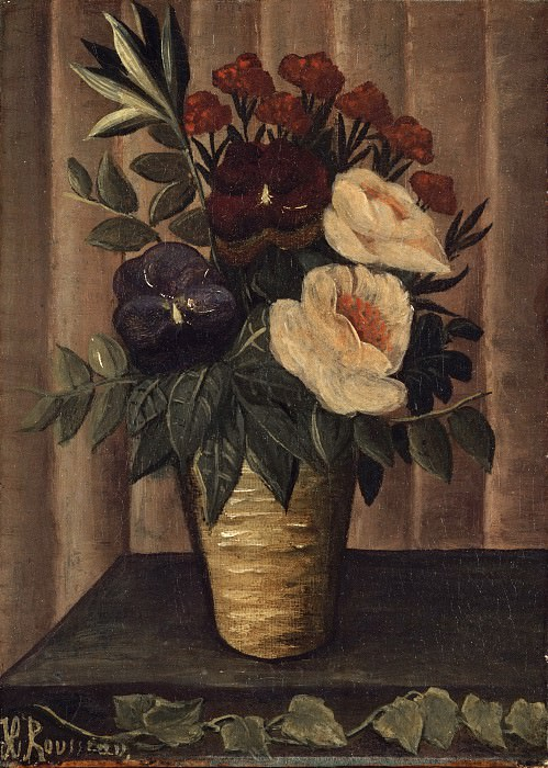 Henri-Julien-Félix Rousseau, French, 1844-1910 -- Still Life with Flowers. Philadelphia Museum of Art